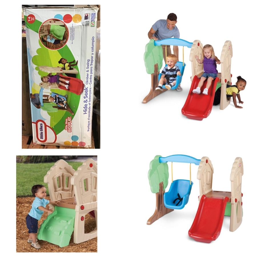 Photo Little Tikes Hide & Seek Climber and Swing - Brown/Tan