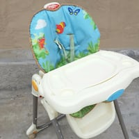 baby's white and blue high chair El Paso