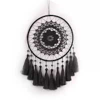 black and gray mandala dream catcher