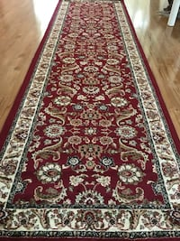 New carpet runner size 3x10 nice red rug runners Persian style hallway