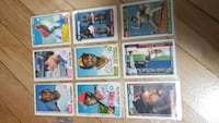 nine baseball trading cards collection Mount Royal, H4T 1B1