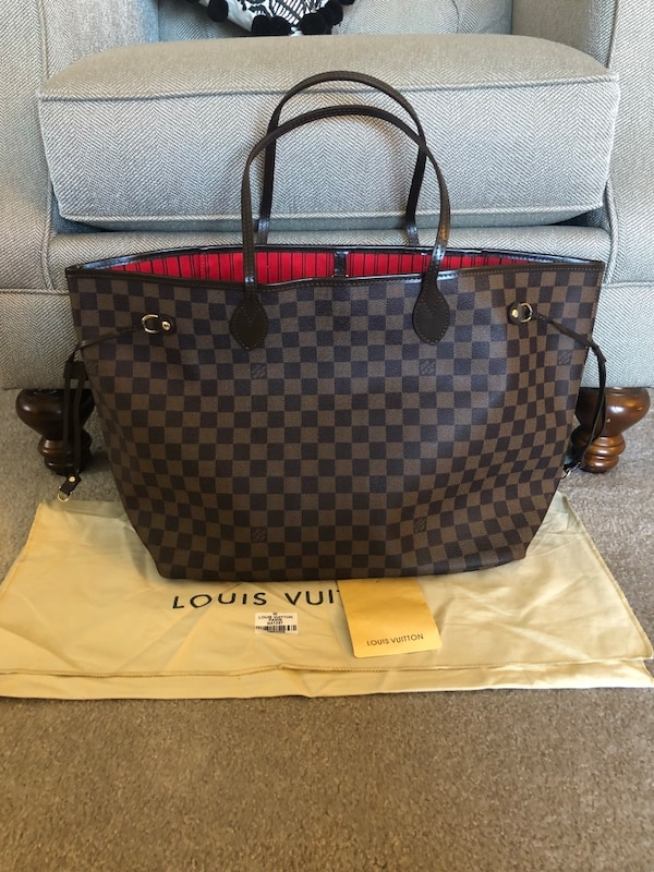 f5ba30503090 Used Louis Vuitton Damier Ebene Neverfull GM Tote Purse for sale in  Naperville - letgo