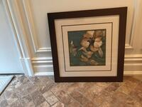 two black wooden framed painting of flowers Wyckoff, 07481