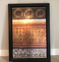 brown and black abstract painting with black frame West Kendall, 33193