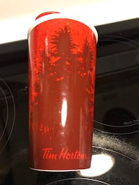 Tims ceramic travel mug (NEW) Mississauga, L5J 1W3