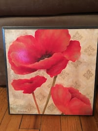red floral painting in black wooden photo frame Stephens City, 22655
