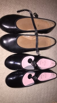 two pairs of mary jane flats