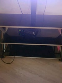 rectangular black wooden TV stand Edmonton, T6J