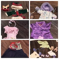 Huge lot of Retired American girl bitty baby outfits