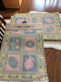 Easter table runner and placemats Methuen, 01844