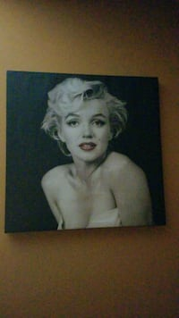 Marilyn monroe painting on canvas paper