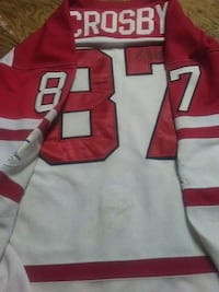 red and white signed sydney crosby NFL jersey Regina, S4T
