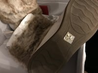 pair of gray-and-white fur boots Hamilton, L8J 0A3