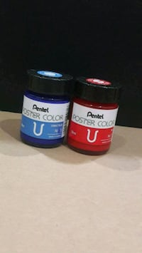 Pentel Poster Colour Cobalt blue and Red Singapore, 530853