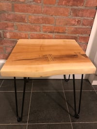 Sugar maple table with black ash bow ties