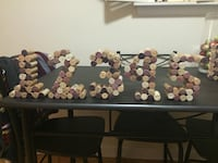 1-15 table numbers out of wine corks wine cork name tag holders (120)  Toronto, M3C