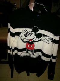 white and black Mickey Mouse print crew-neck shirt Webb City, 64870