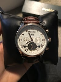 Kinyued brown strap automatic watch