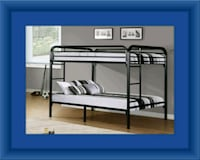 Twin bunkbed frame with 2 mattress Fairfax