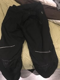 Dainese motorcycle thermal pants with knee pads