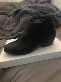 Black leather ankle boots for women 224 mi
