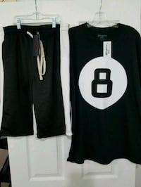Men Black & White Track Shorts  & Custom Tee..   Duncanville, 75137
