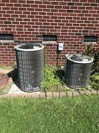 two black and gray air condenser Fayetteville, 28303