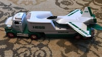 White and blue hess freight truck and plane die-cast model Caldwell, 07006