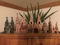 Clay Collection of churches.  Selling as set Dallas, 75243