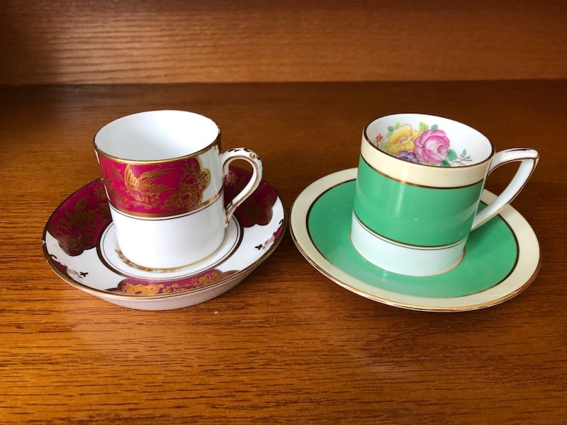 $10 for 2!! Gorgeous Vintage Bone China Espresso Cups and Saucers bdb97065-139d-4553-aee4-d444e17372ff