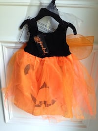 NEVER USED! Infant Baby Girl Pumpkin Halloween Dress - Size 6-9 Months