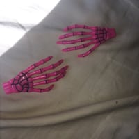 Pair of pink skeleton hand hair clips Markham, L3T 4X3