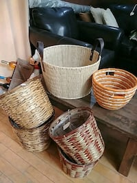6 Wicker baskets lot Châteauguay