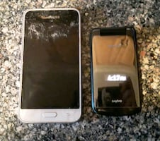 Two Phones For 10$ Samsung Galaxy & Mint Sanyo Flip phone