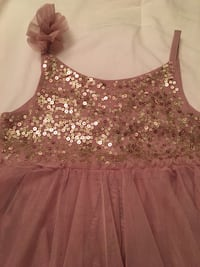 Blush and gold sequins dress with tutu bottom. 2-3t stunning! Toronto, M4J 2B3