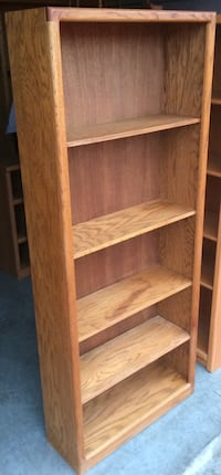 5 Tier Oak Bookcase / Bookshelf / Display Shelves