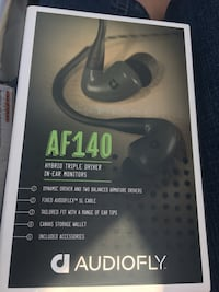 Audio fly AF140 hybrid triple driver in ear monitors. Still $300 in stores  Airdrie