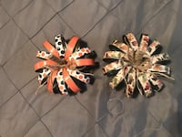 2 pumpkins- new handmade with regular size canning jar rings, scrapbook paper, string, and modge podge. Asking $8 dollars each  Morristown, 37814