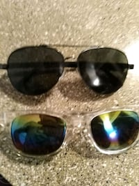 two black framed Ray-Ban sunglasses Las Vegas, 89101