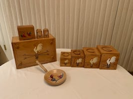 Vintage Redbird Kitchen Set