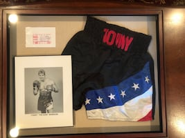 Tommy Morrison's original worn Black and blue shorts