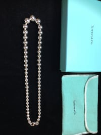 Sterling Silver Tiffany & Co Hardware necklace with box 2272 mi