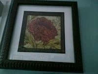 brown wooden framed painting of red flower Groves, 77619