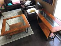 Solid Wood Coffee Table and TV Stand Ajax, L1S 2Y2