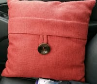 Red Throw Pillow Frederick