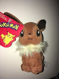 Hasbro Pokémon Eevee Plush Toy #133 New with Tag 5.5 inches tall  Montréal, H4G 1M2