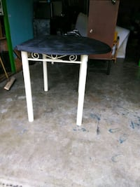 black and white wooden table Harriman, 37748