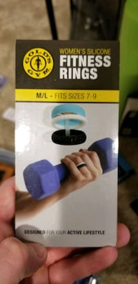 Gold's Gym brand silicone rings