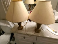2 matching golden color lamps Englewood, 80112