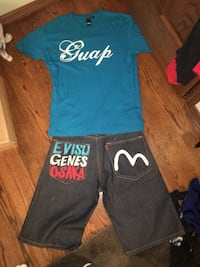 blue and black crew-neck shirt and pants Kenosha, 53140